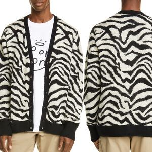 Noon Goons Tiger jacquard Cardigan Medium